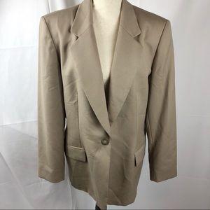 [Vintage] Pendleton | 90s Taupe Structured Blazer